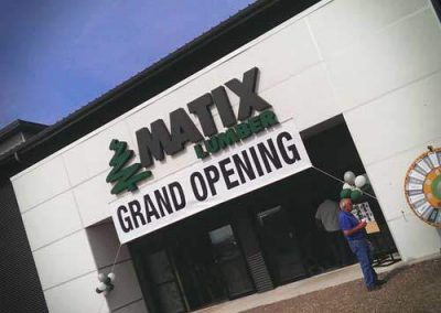 Matix Lumber Grand Opening